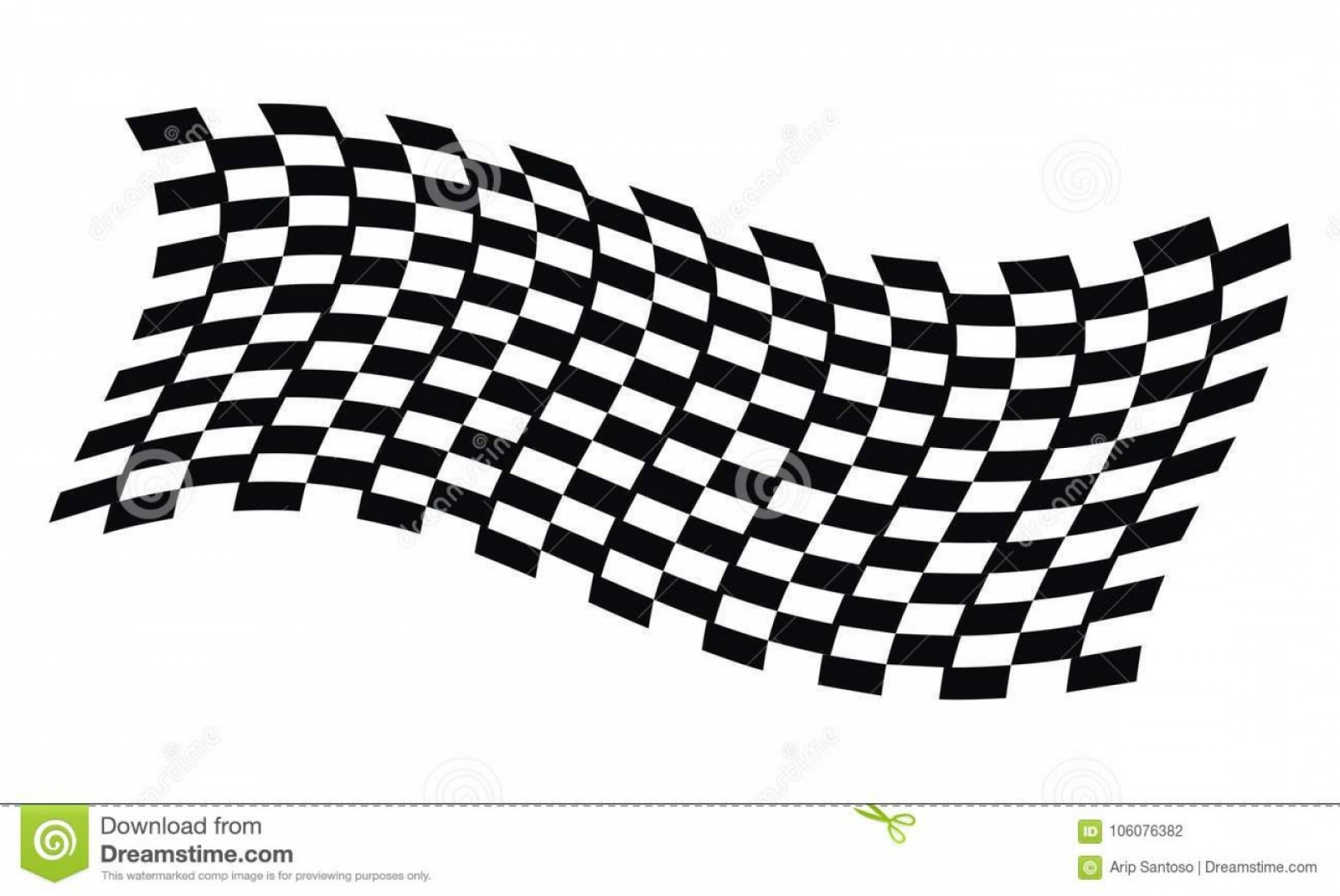 Vector Checkered Flag Heart: Dynamic Racing Flag Dynamic Racing Flag Logo Design Template Vector Image