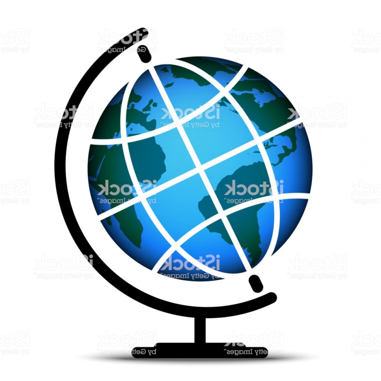 Abstract Vector Art Globe TV: Earth Globes Isolated On Grey Background D Planet Earth Icon With Meridian And Gm