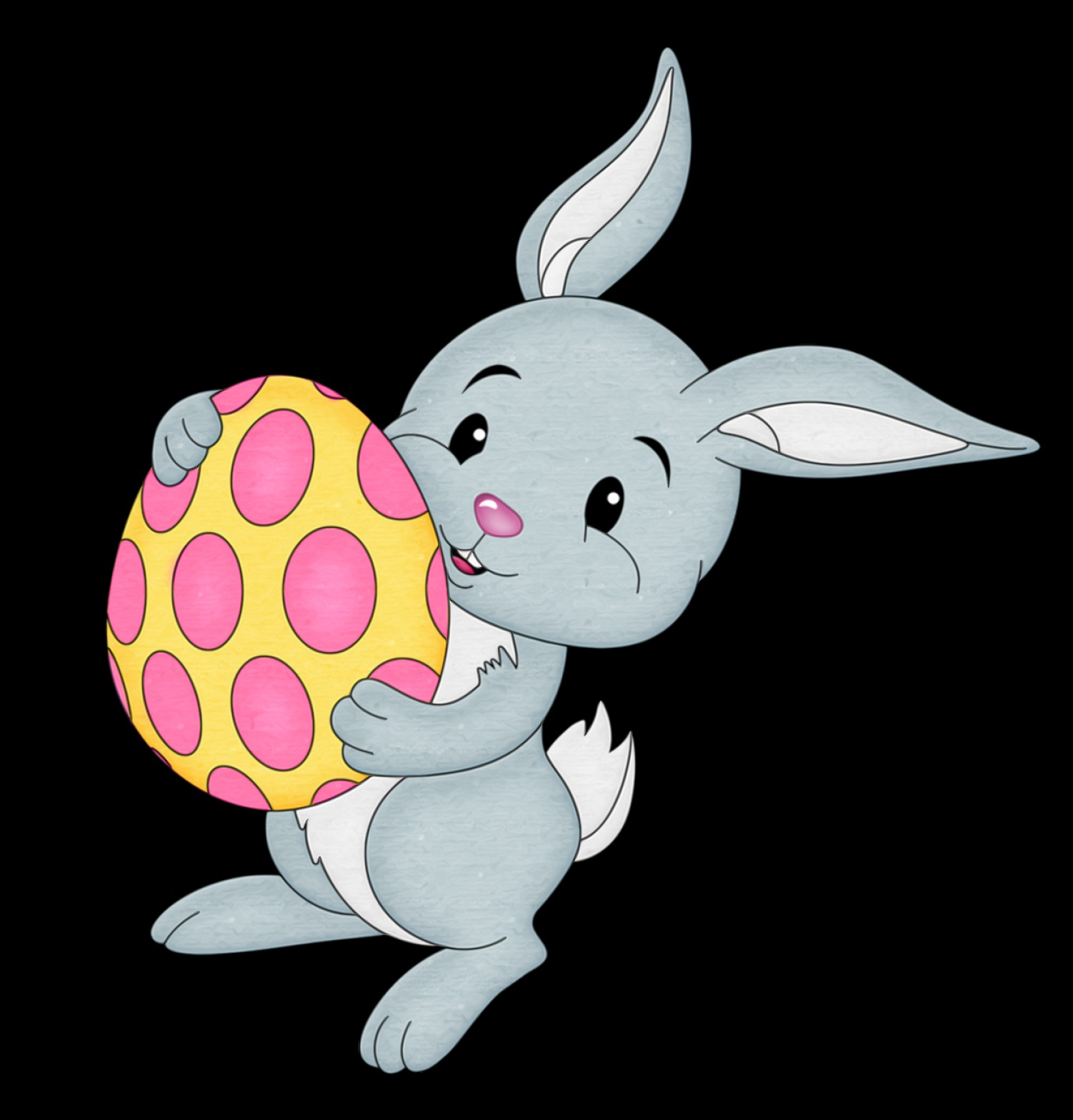 Easter Vector No Background: Easter Bunny Clipart No Background