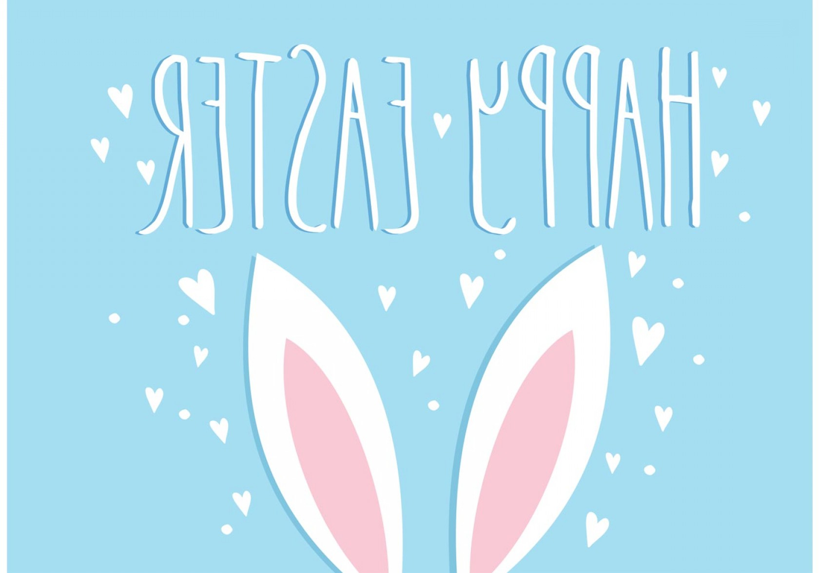 Easter Vector Art No Background: Easter Bunny Ears Vector Illustration