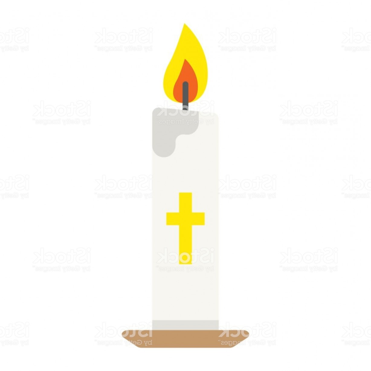 Vector Flame Stick Pattern: Easter Candle Flat Icon Easter And Holiday Flame Sign Vector Graphics A Colorful Gm