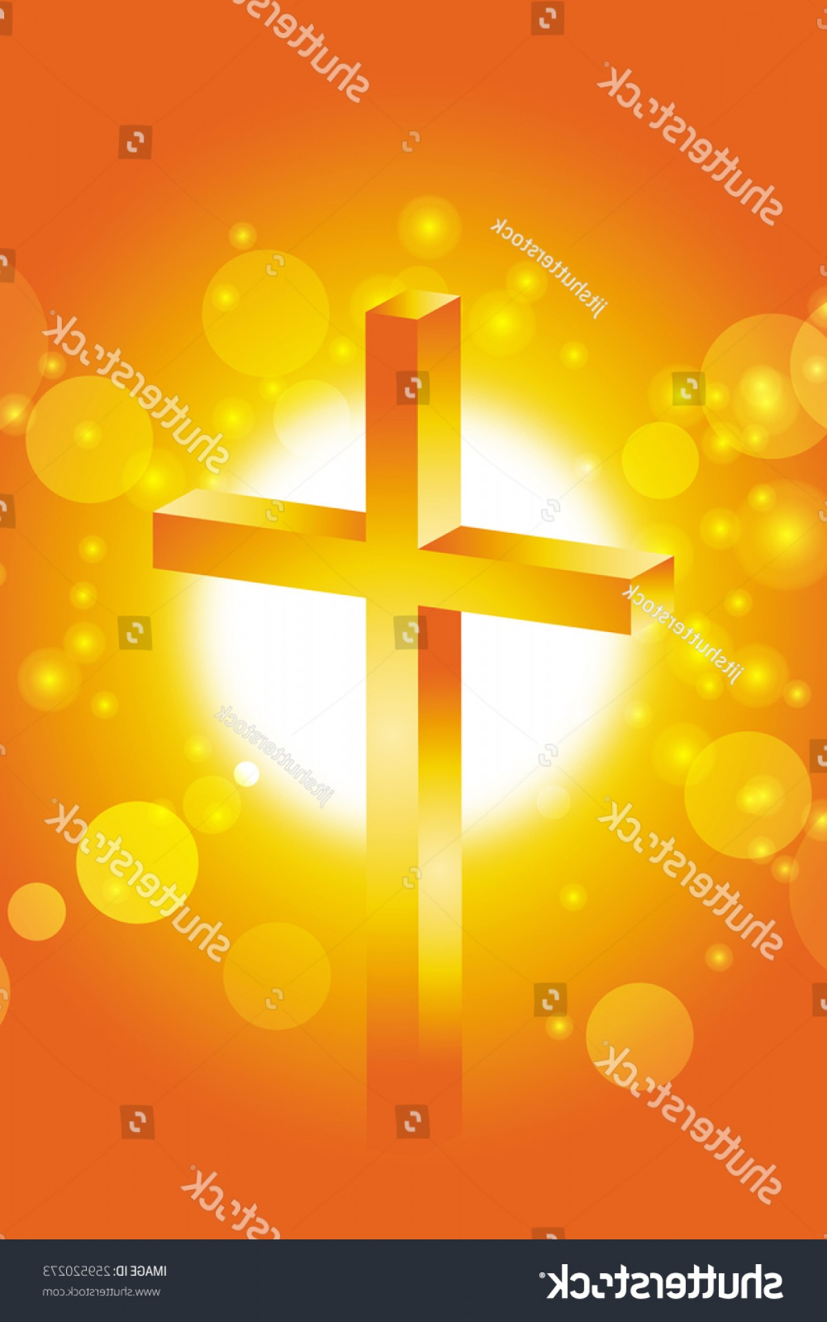 Christian Vector Sun: Easter Cross Christian Sun Lens Flare