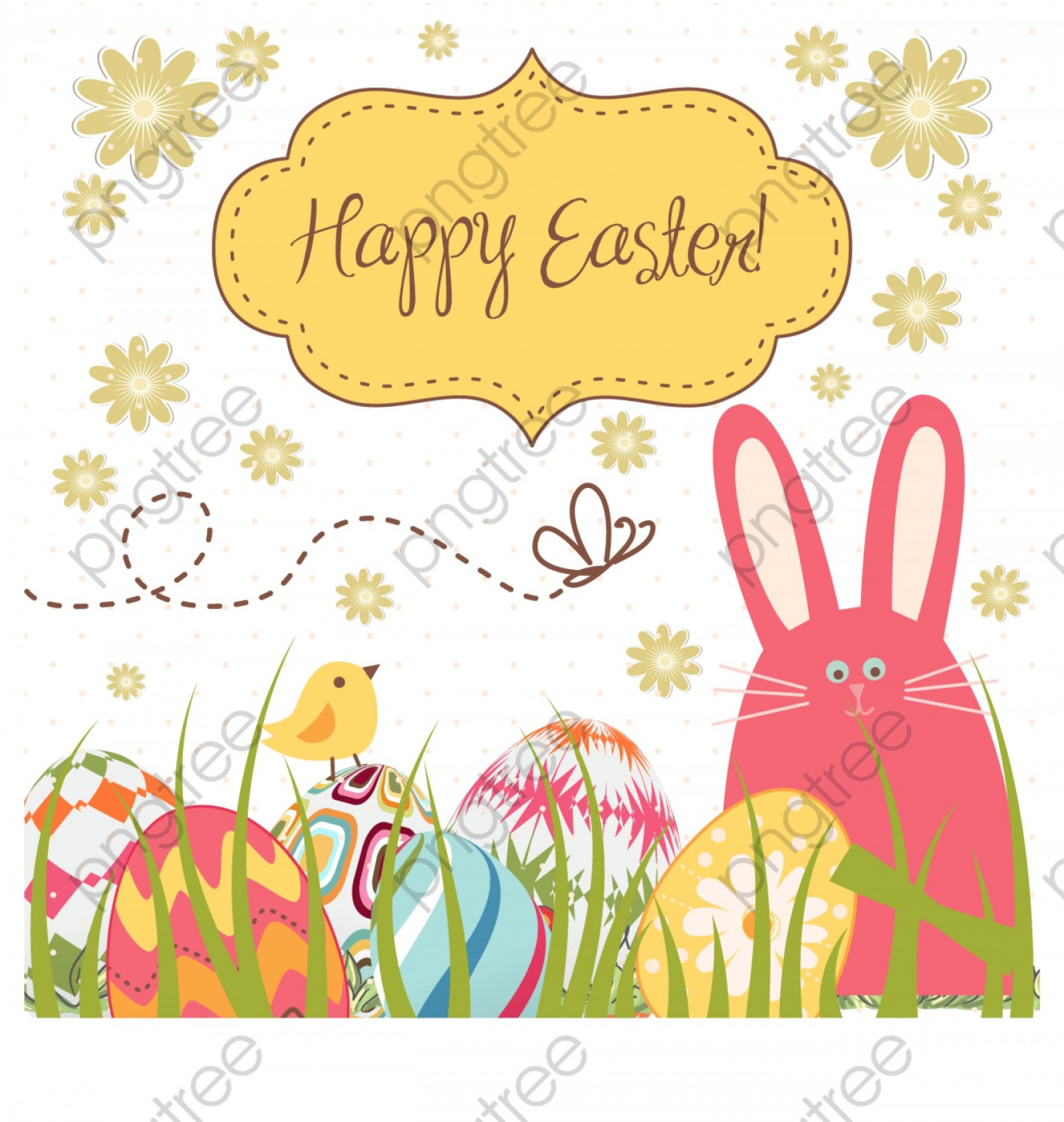 Easter Vector No Background: Easter Egg Bunny Vector Background Fabric