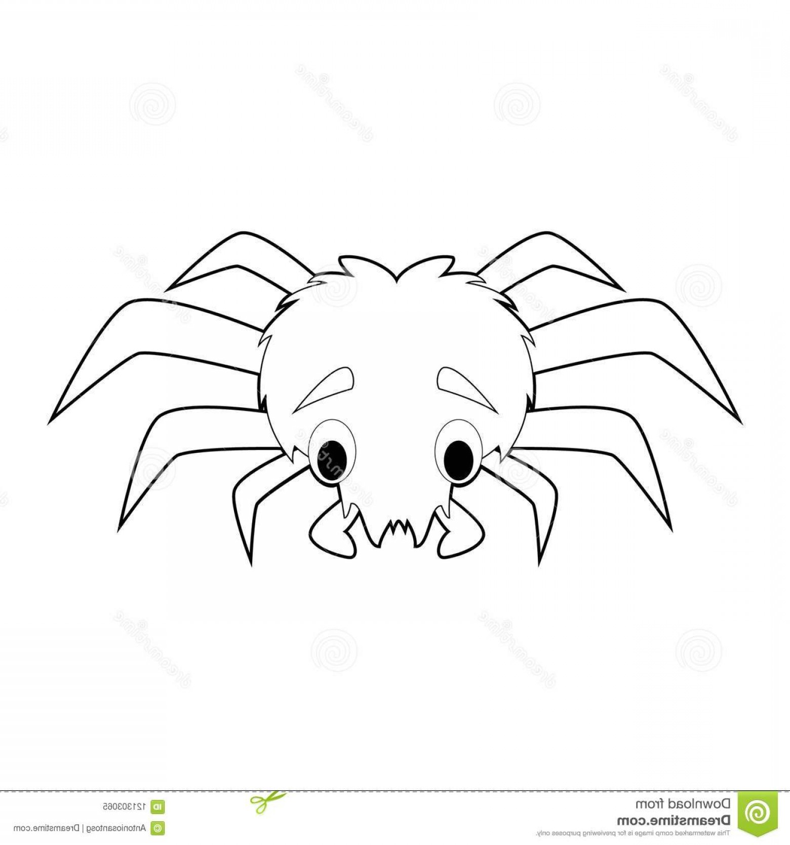 Easy Spider Vector Illustration: Easy Coloring Drawings Animals Little Kids Spider Vector Illustration Easy Coloring Animals Kids Spider Image