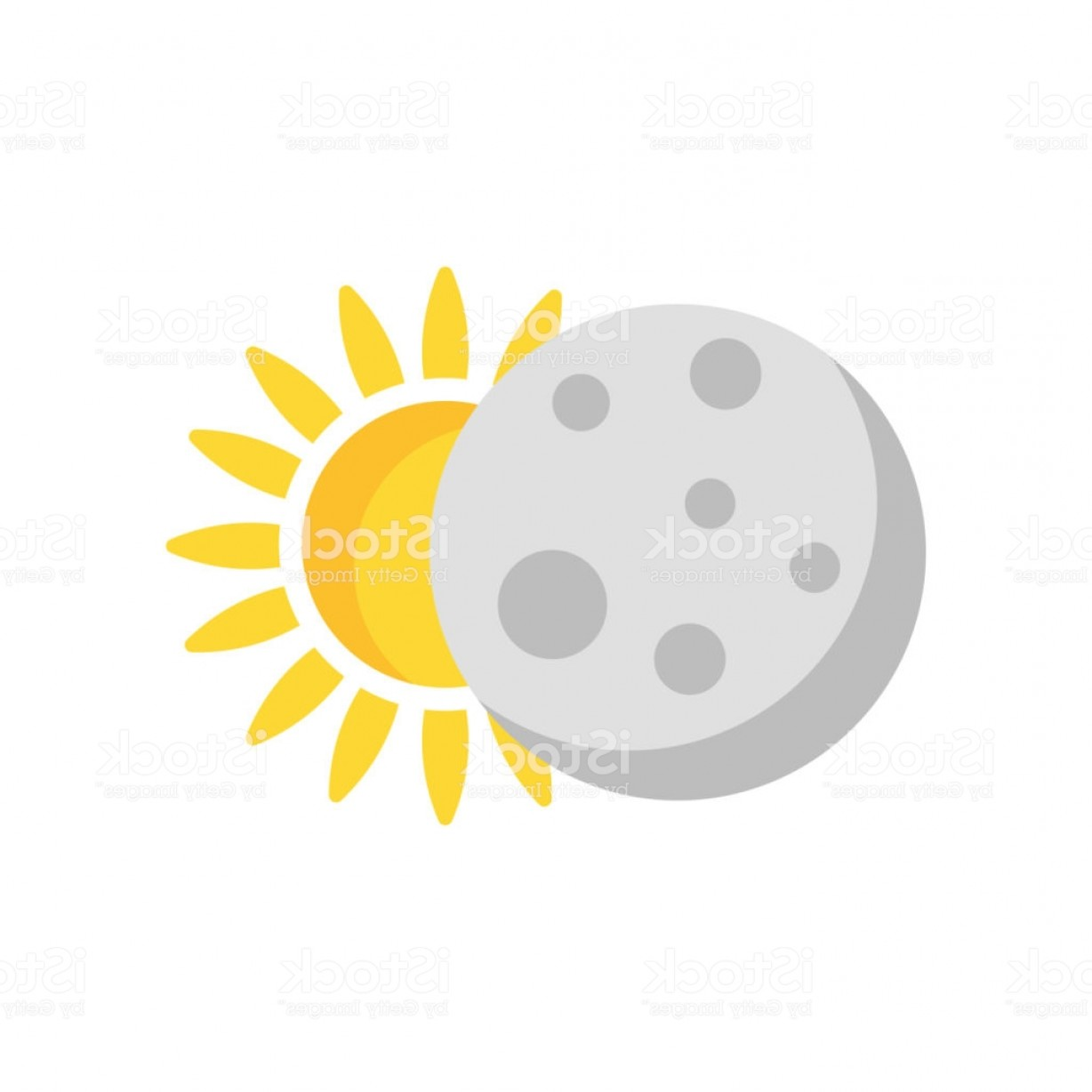 Whitew Eclipse Vector: Eclipse Icon Vector Sign And Symbol Isolated On White Background Eclipse Logo Gm