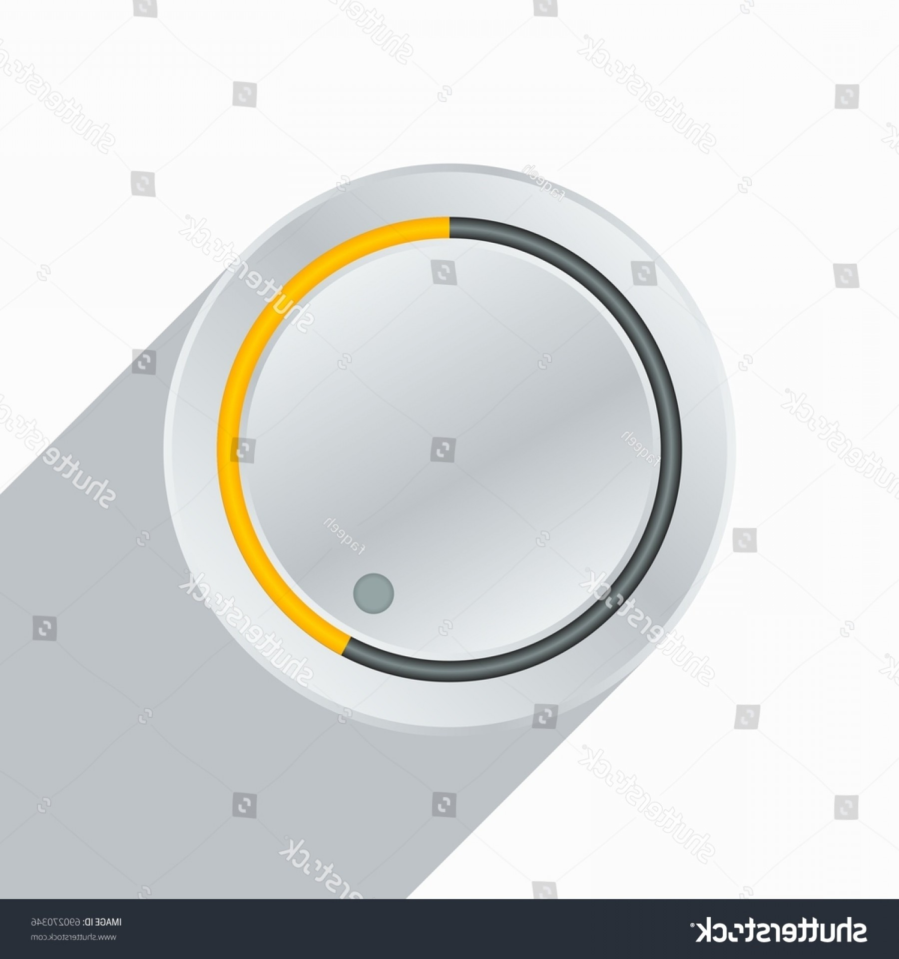 Volume Button Vector: Editable Volume Button Vector Illustration
