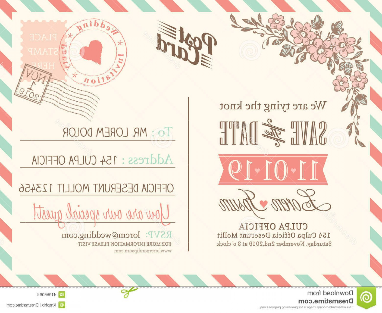 Rustic Wedding Invitation Vector: Editable Wedding Invitation Templates Free Download