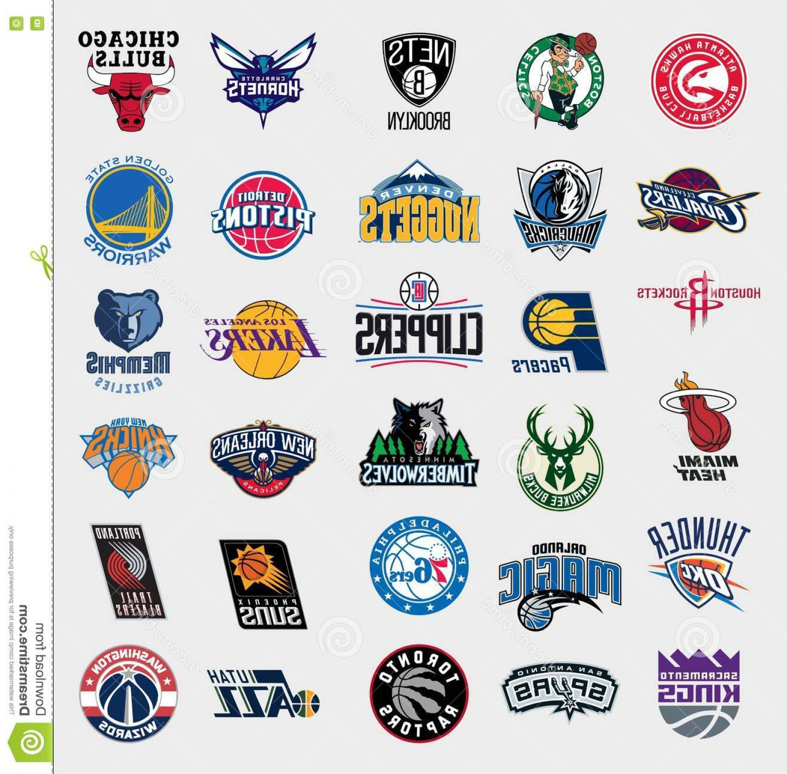 Vector NBA LogoArt: Editorial Image Nba Teams Logos Vector Collection National Basketball Association Updated To Image