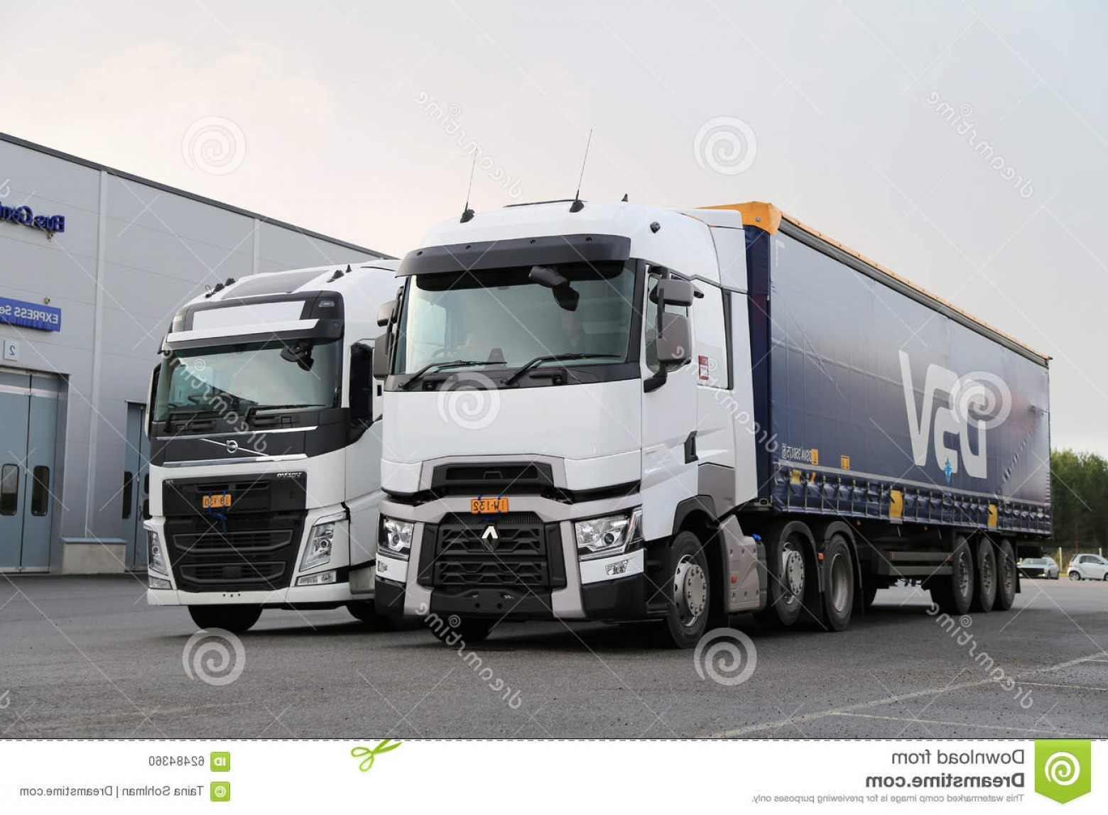 Volvo FH Vector: Editorial Image Renault Trucks T Volvo Fh Semi Demo Drive Event Lieto Finland November Available Test Truck Center Turku Image