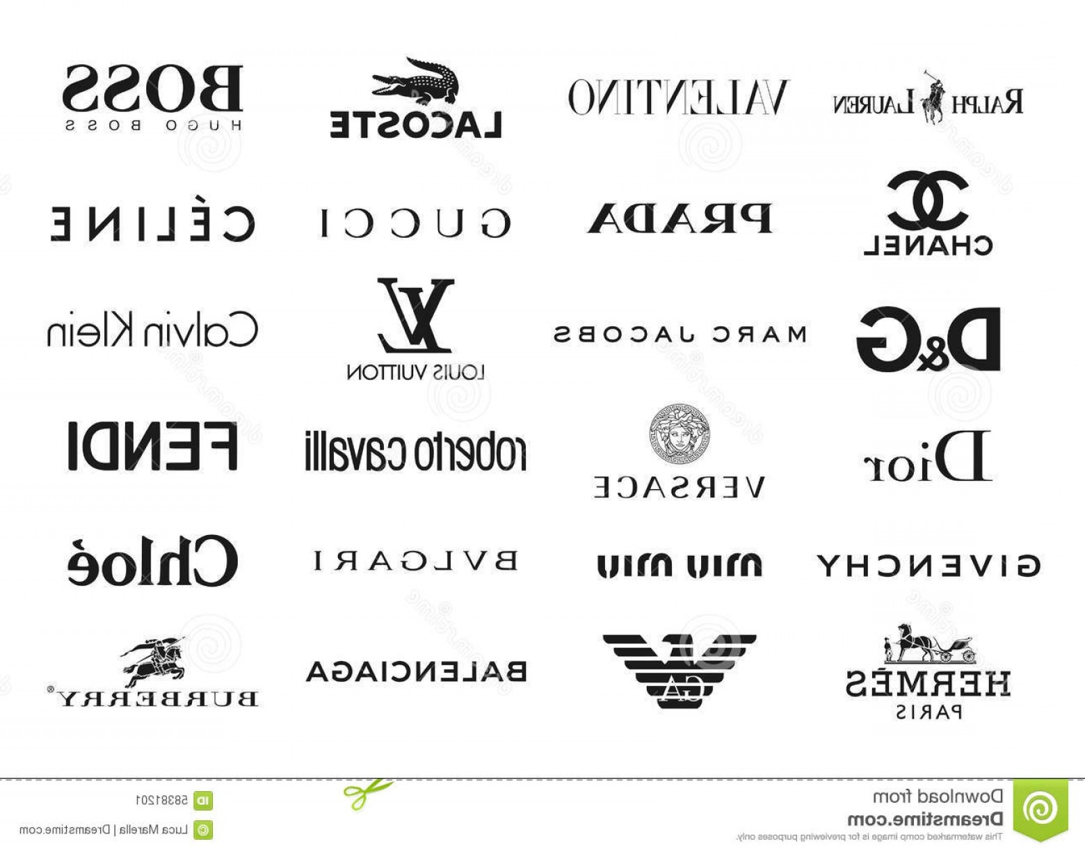 The World Vector Logos Of Brands: Editorial Photo Fashion Brands Logos Vector Collection Most Famous World Eps File Available Image
