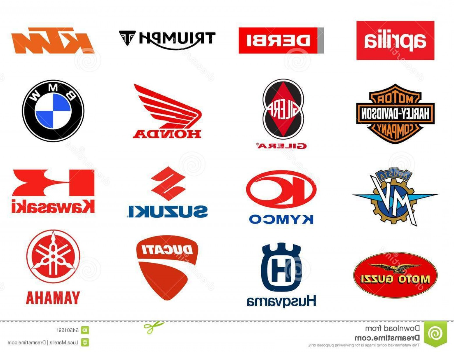 The World Vector Logos Of Brands: Editorial Photo Motorcycles Producers Logos Vector Major World Additional Vector File Available Single Elements Usage Image
