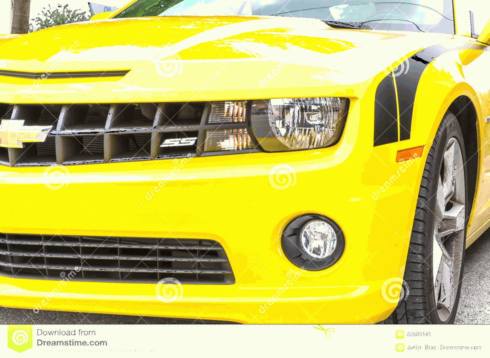 Camaro SS Logo Vector: Editorial Photo Yellow Chevrolet Camaro Ss Convertible Front Side Details Miami Usa September Fifth Generation Was Introduced Image