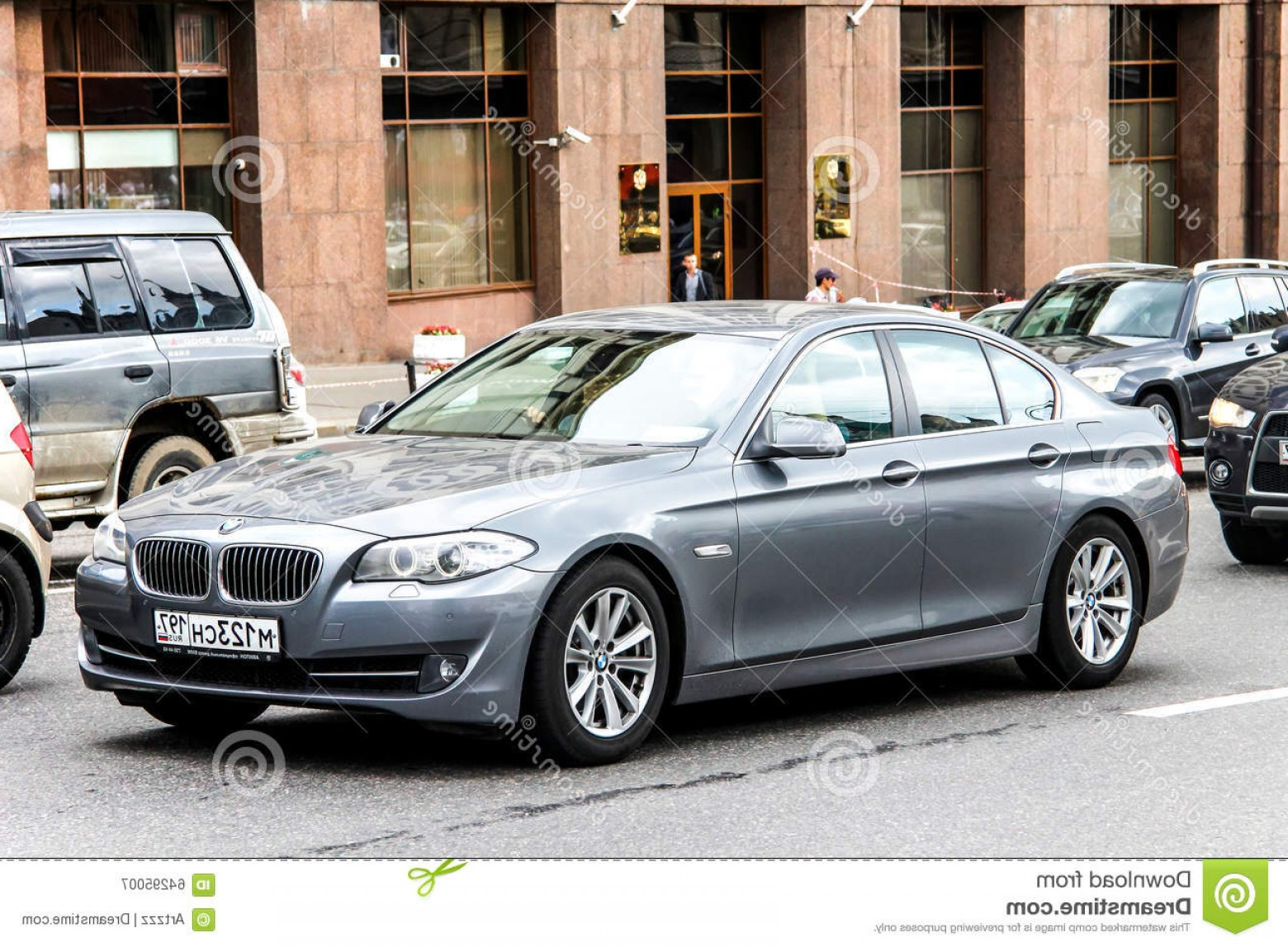 BMW F10 Vector Art: Editorial Photography Bmw F Series Moscow Russia June Motor Car City Street Image