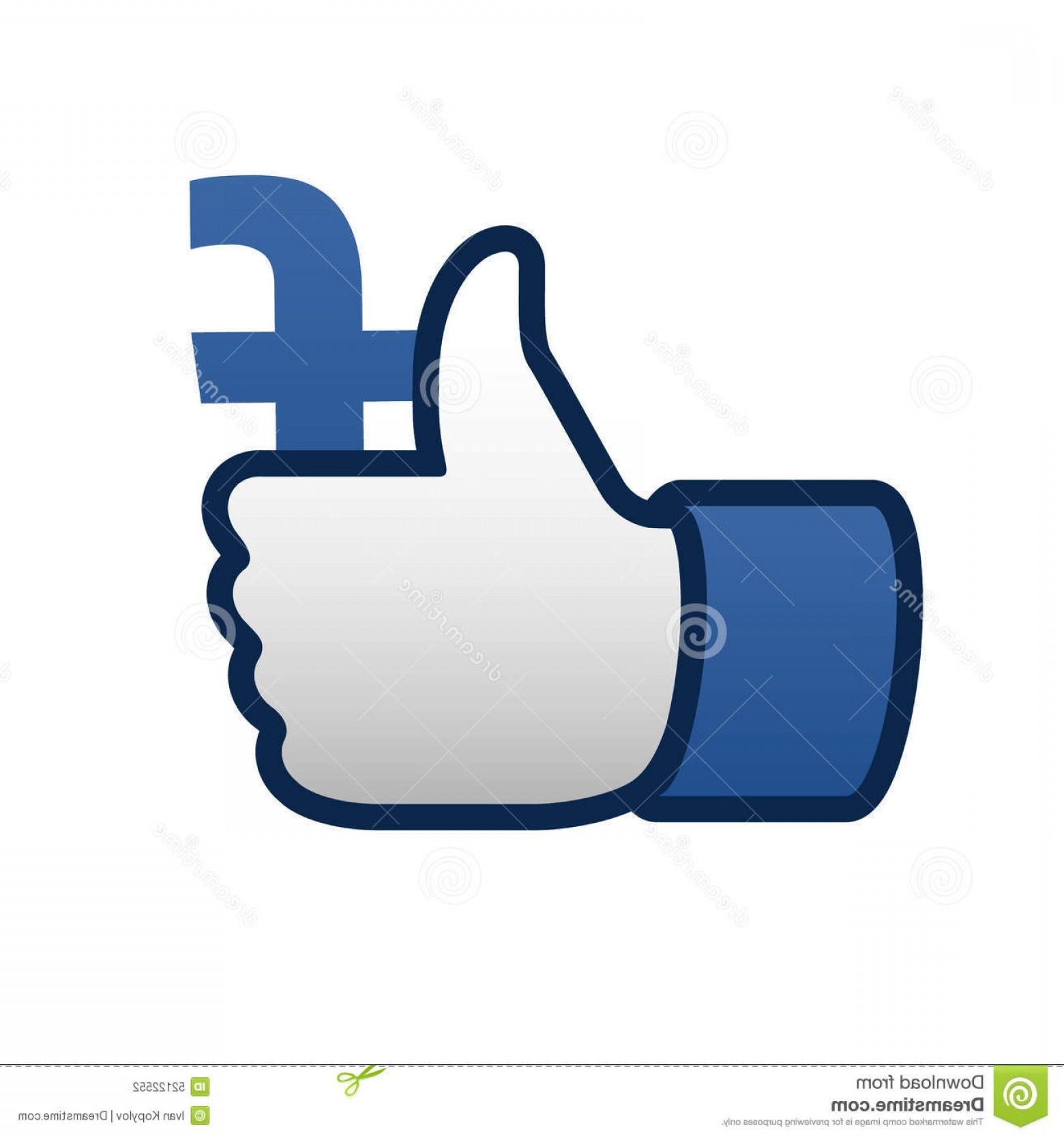 Finger Facebook Vector: Editorial Photography Facebook Like Thumbs Up Symbol Icon Vector Illustration Image