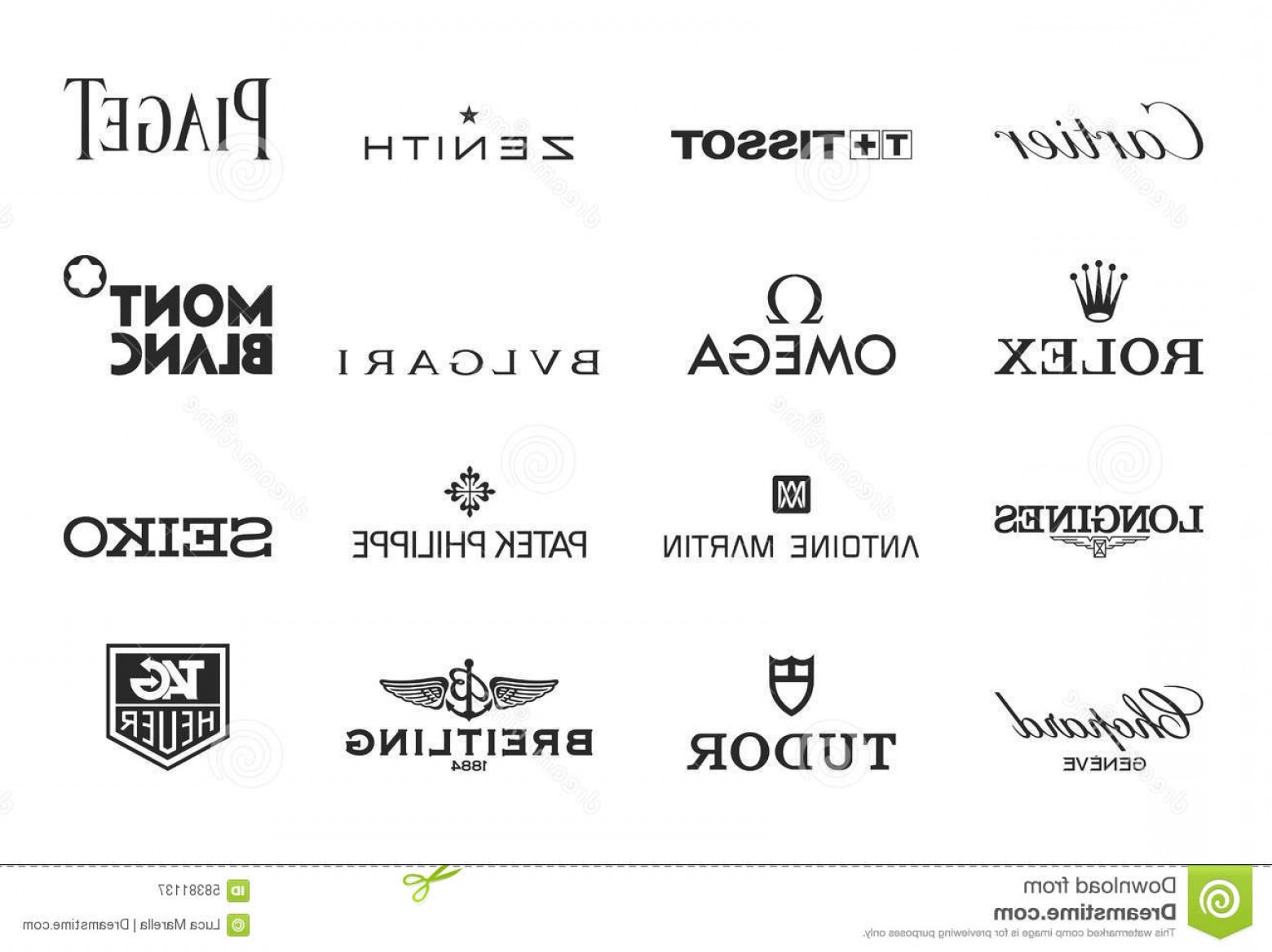 The World Vector Logos Of Brands: Editorial Photography Luxury Watches Logos Vector Brand Collection Most Famous Producers World Eps File Available Image