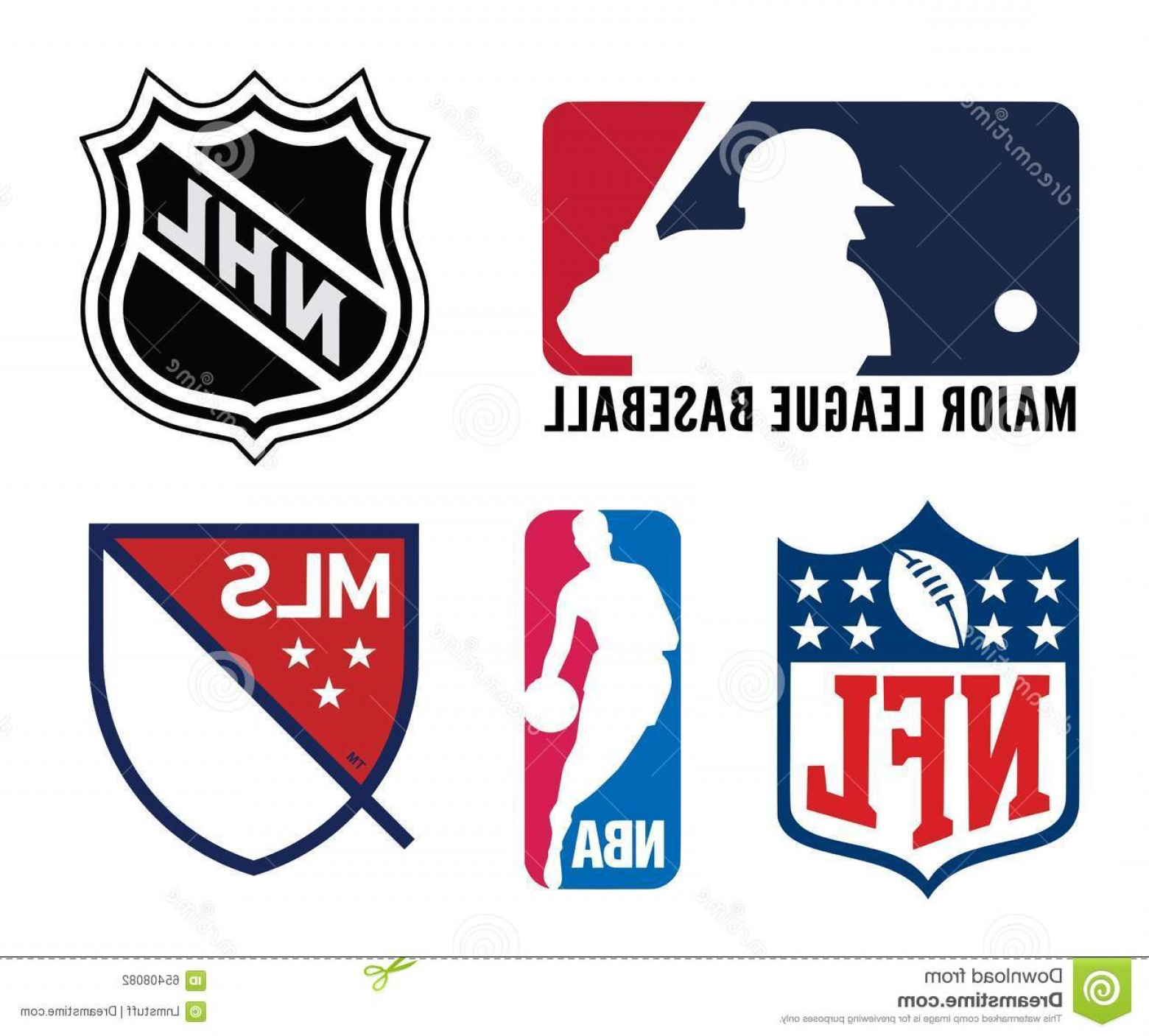Vector NFL Logo Black And White: Editorial Photography Usa Sports Logos Vector Logo Collection Most Popular Team Leagues U S Including Nfl Mlb Nba Editable Eps Image