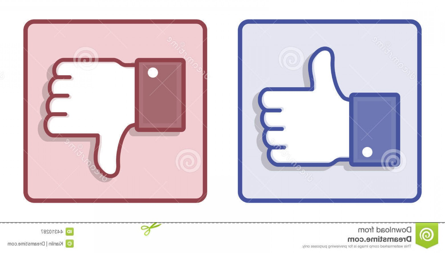 Finger Facebook Vector: Editorial Photography Vector Facebook Like Dislike Thumb Up Sign Illustration Down Hands Isolated White Image