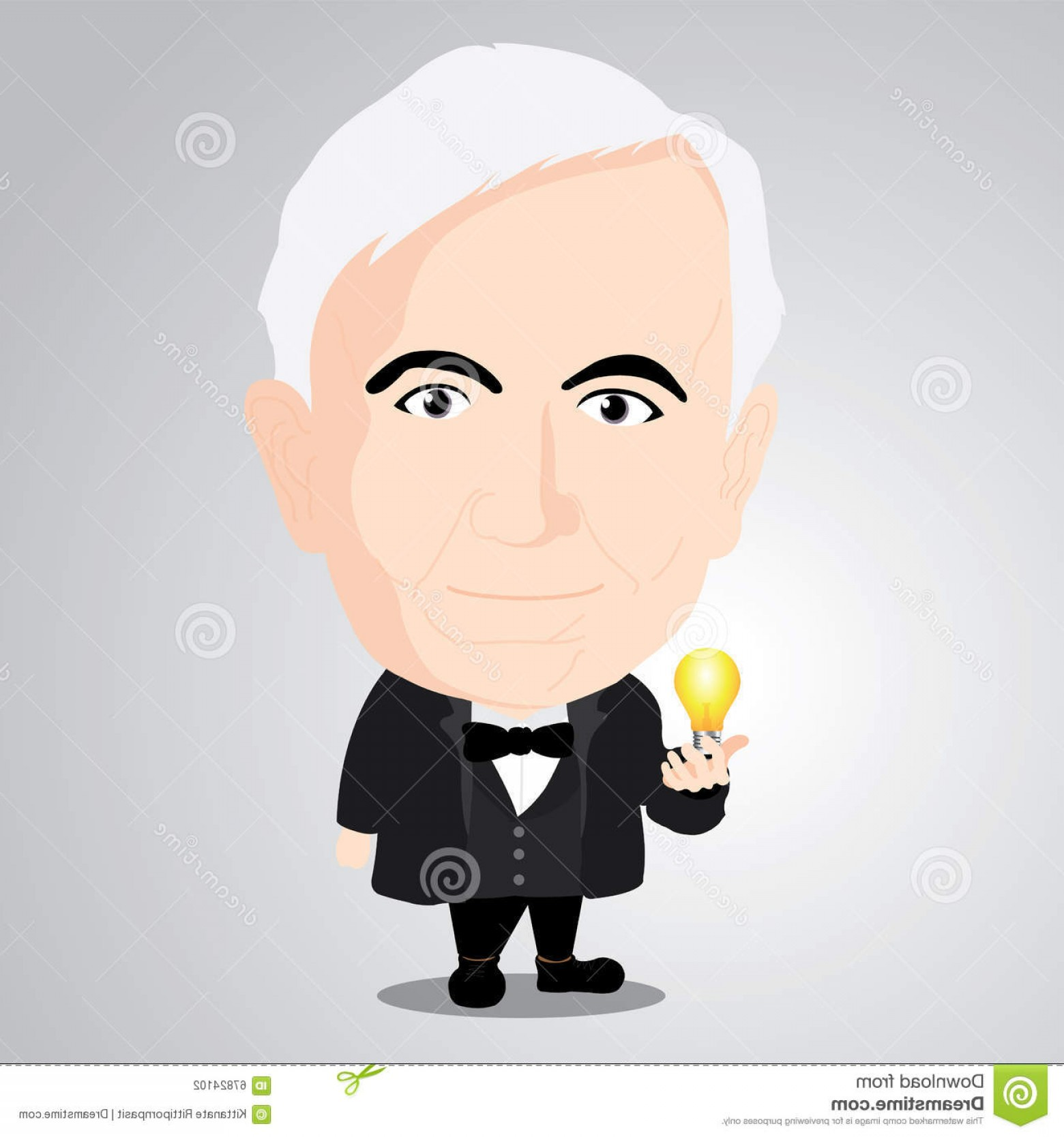 Thomas And Thomas Vector: Editorial Photography Vector Illustration Thomas Alva Edison Cartoon Character Illustrator Image