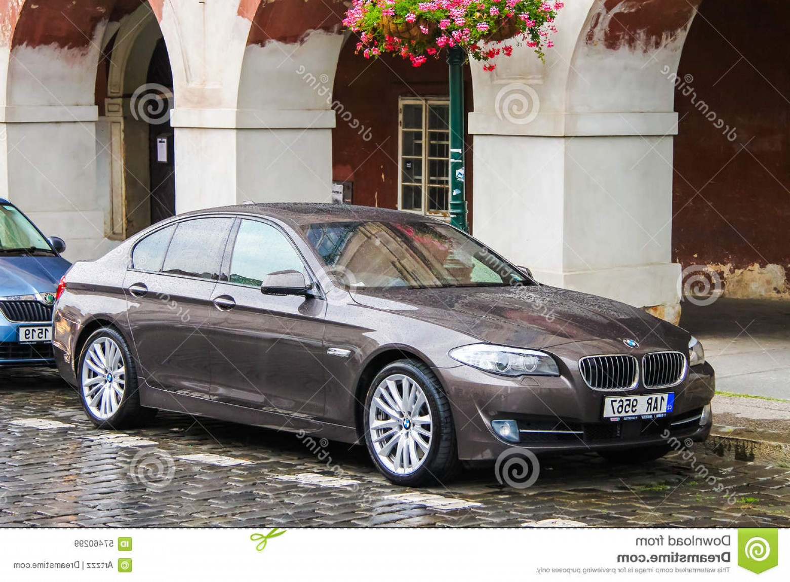 BMW F10 Vector Art: Editorial Stock Image Bmw F Series Prague Czech Republic July Motor Car City Street Image