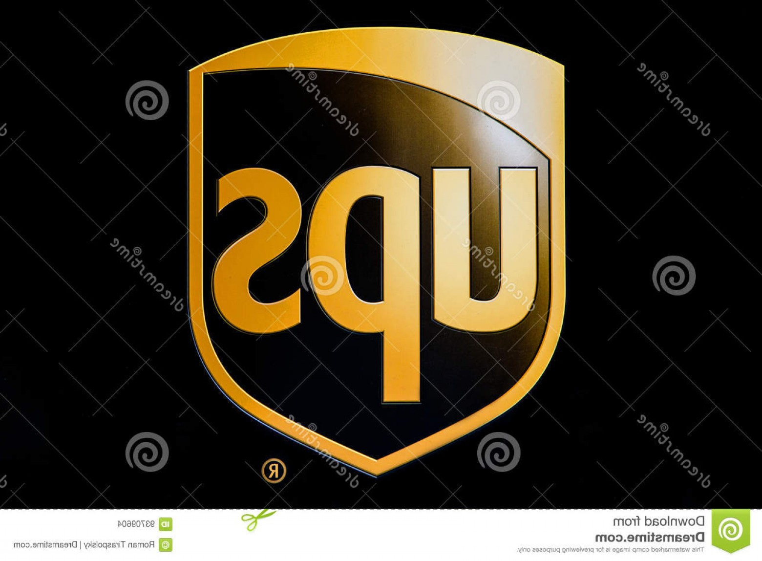 UPS Logo Vector: Editorial Stock Image Ups Logo New York April One Their Trucks Image