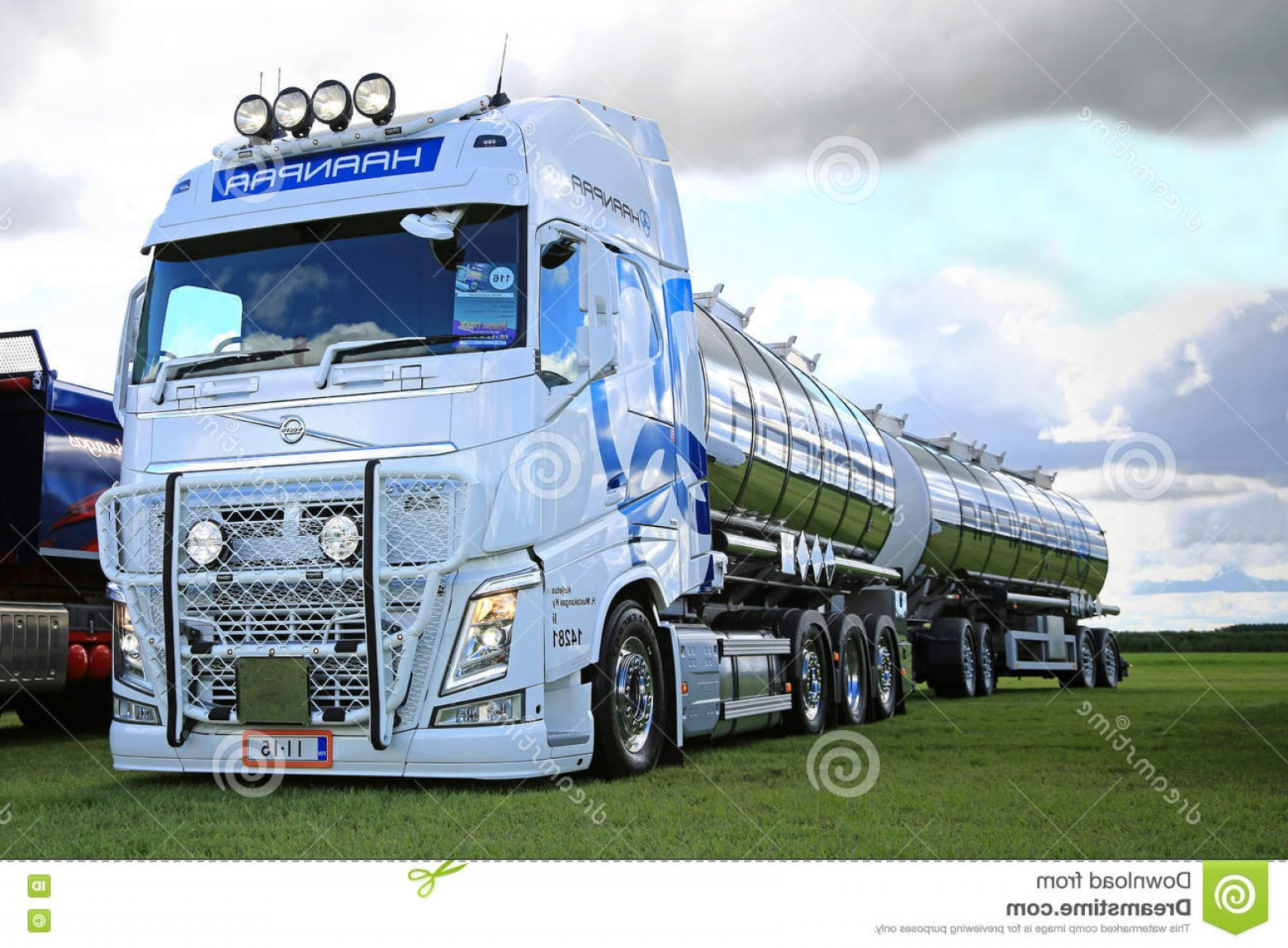 Volvo FH Vector: Editorial Stock Image White Volvo Fh Bulk Transport Power Truck Show Alaharma Finland August Year H Mustakangas Lights Displayed Image