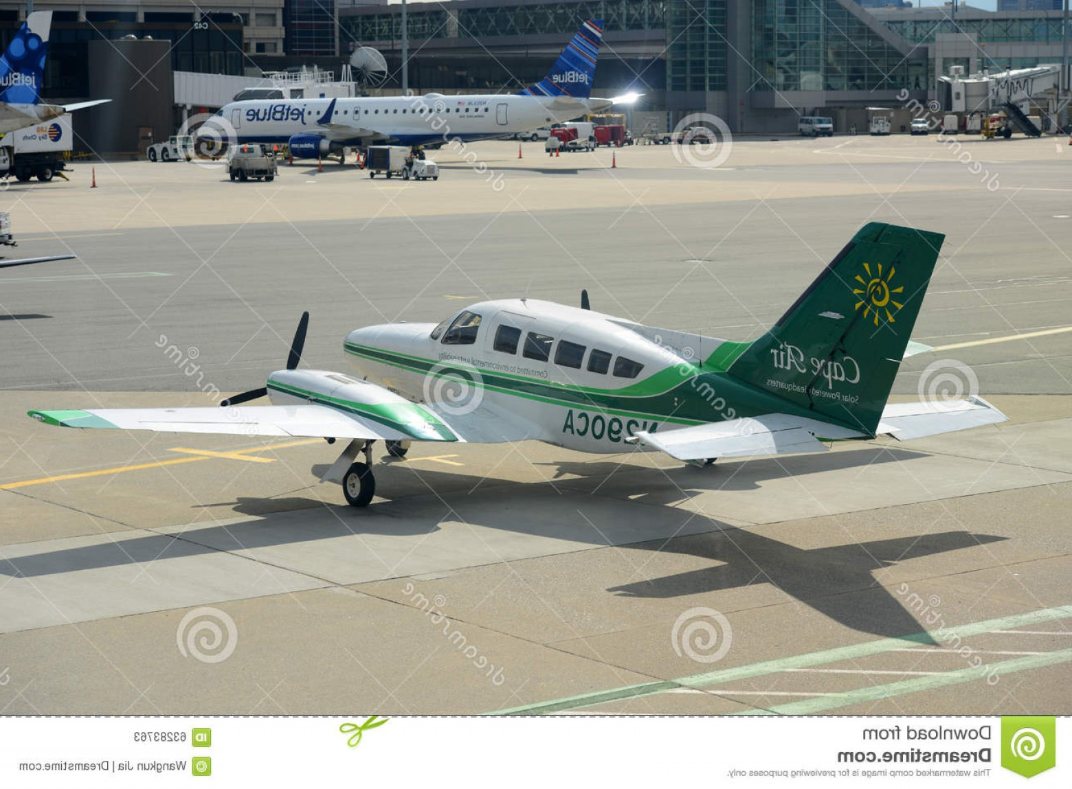 Massport Vector: Editorial Stock Photo Cape Air Cessna Boston Airport C Logan International Massachusetts Usa Image
