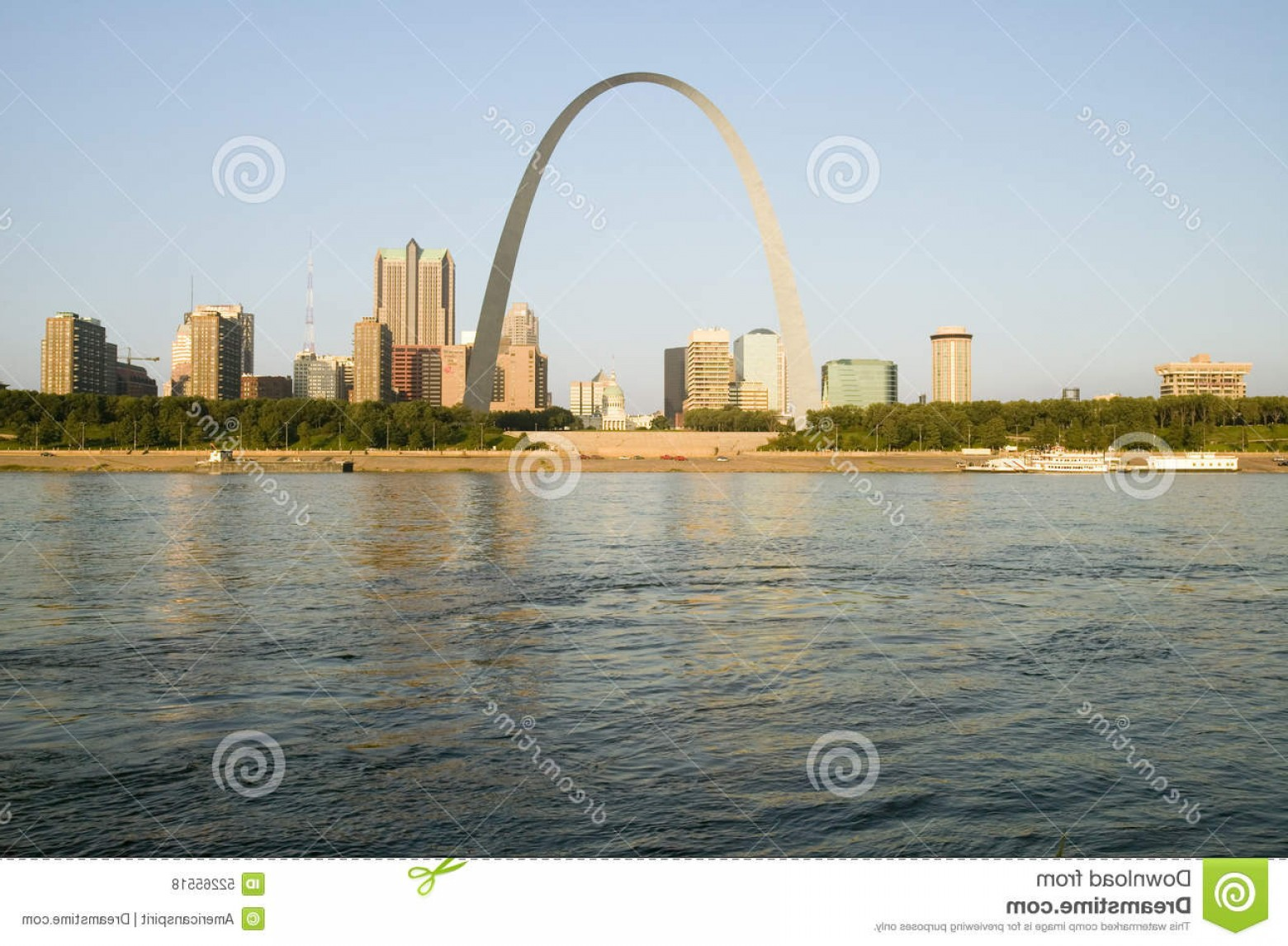 Arch Vector Illinios: Editorial Stock Photo Daytime View Gateway Arch Gateway To West Skyline St Louis Missouri Sunrise East St Louis Illinois Image