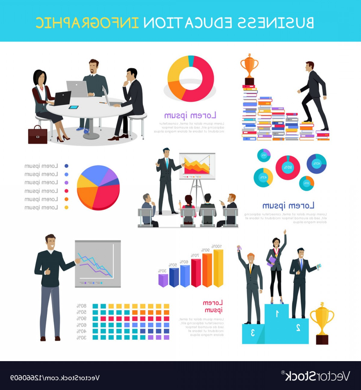 Growth Vector People: Education Infographic Of Successful People Growth Vector