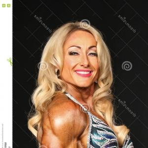 Vector Abstract Woman Bodybuilder Physique: Stock Photo Sport Vector Logo Gym Fitness Or Bodybuilding Icon