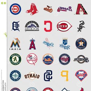 National League Baseball Logo Vector: Vector Illustration Of A Baseball Logo For Your Design Print Or Web On A White Gm
