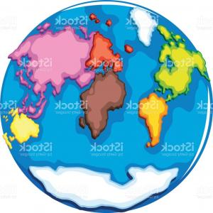 Vector Globe Countries: Eearth Globe And Countries On White Gm