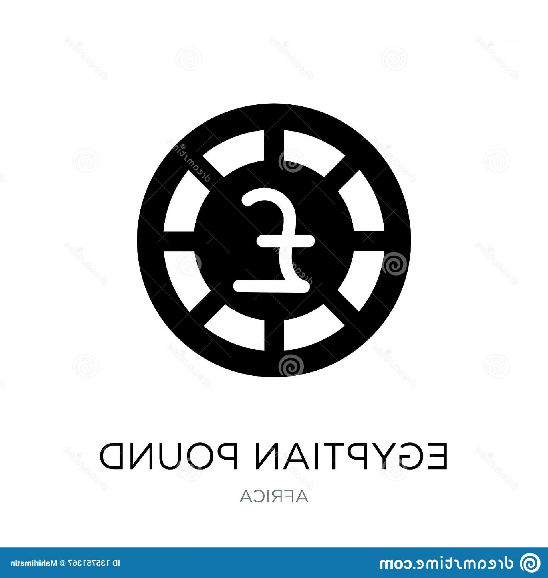 Egyptian Money Symbol Vector: Egyptian Pound Icon Trendy Design Style Isolated White Background Vector Simple Modern Flat Symbol Web Site Mobile Image