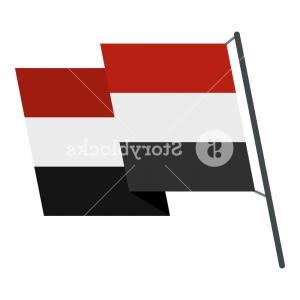 Egyptian Money Symbol Vector: Egyptian Wavy Flag Icon Flat Isolated On White Background Vector Illustration R Auflmjilxgh