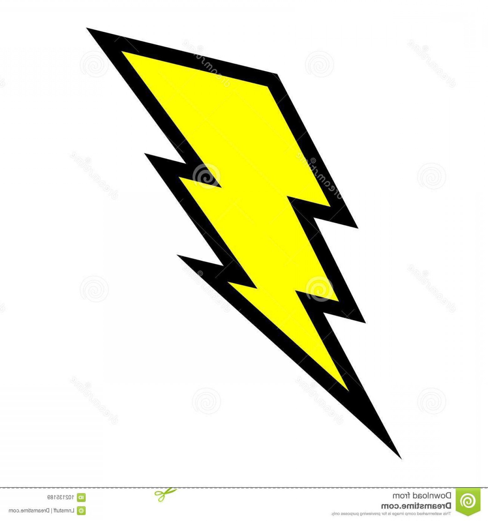 Lightning Bolt Vector Clip Art: Electric Lightning Bolt Vector High Quality Illustration Yellow Electric Lightning Bolt Isolated White Background Full Image