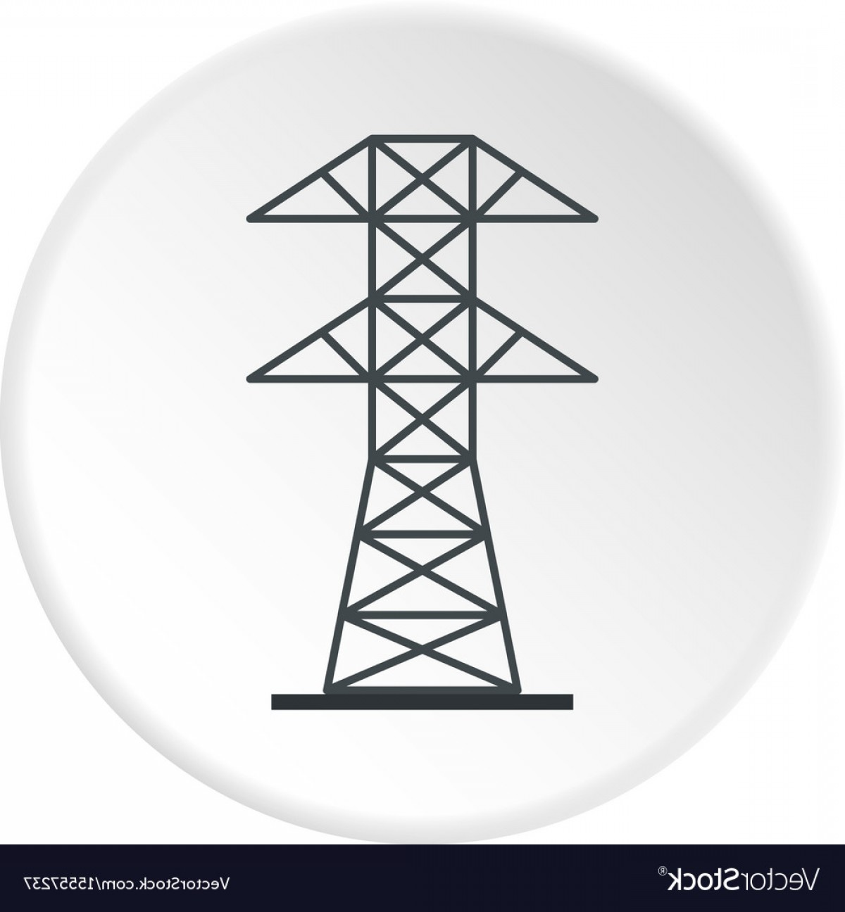 Vector Power Plant Utility: Electric Power Station Icon Circle Vector