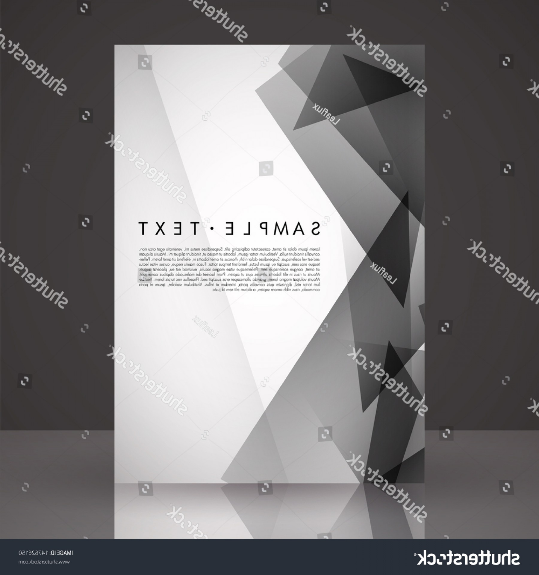 Black And White Flyer Vectors: Elegant Black White Flyer Template Eps