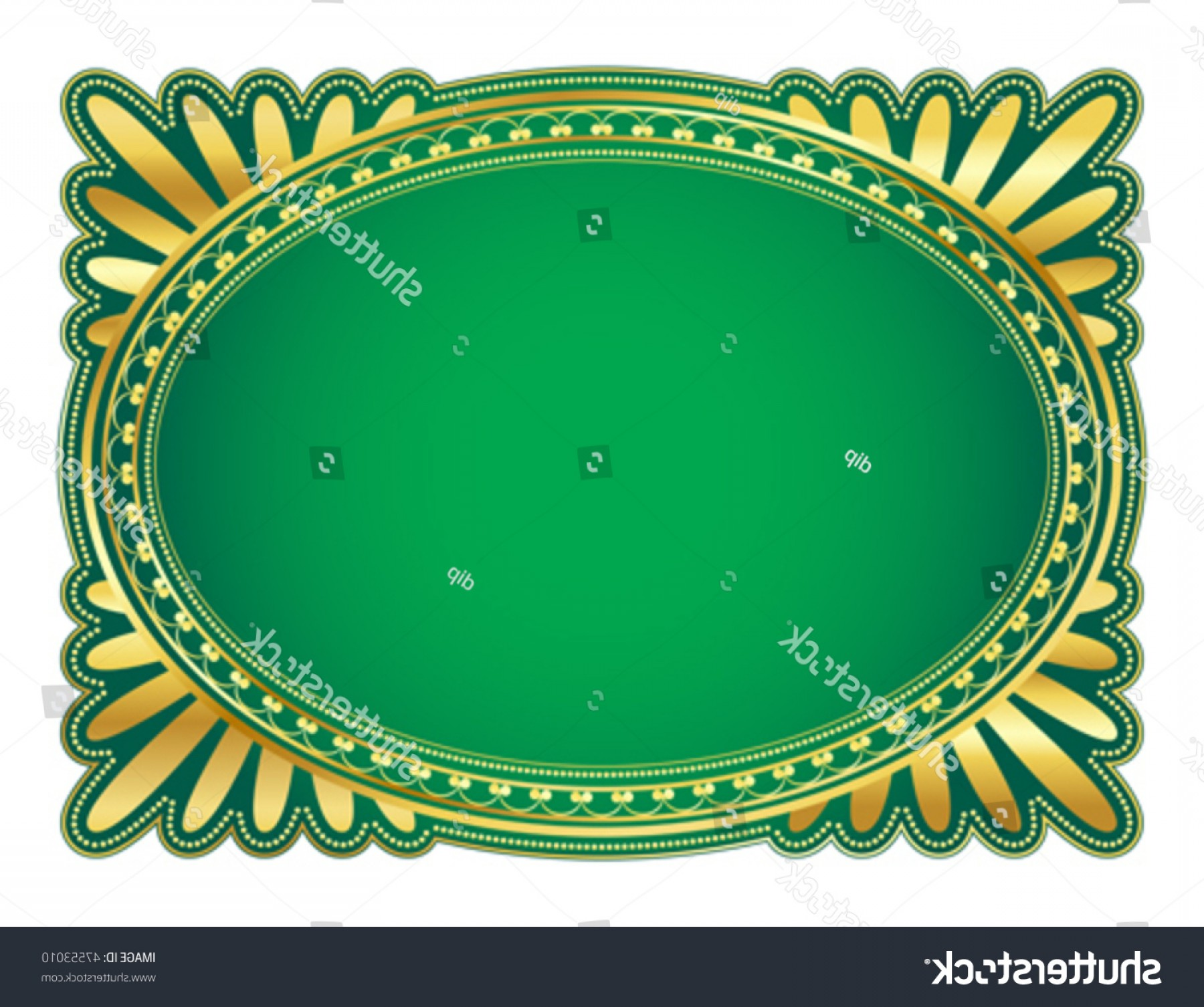 Filigree Oval Frame Vector: Elegant Oval Frame Decorative Filigree Illustration