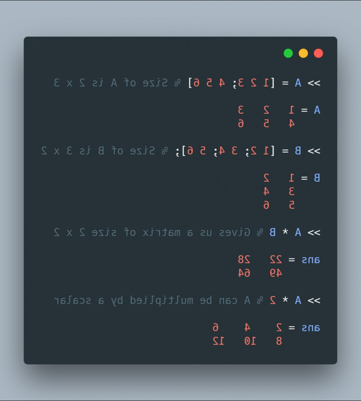 Row Vector Multiplication: Element Vise Operator In Octave Accddb