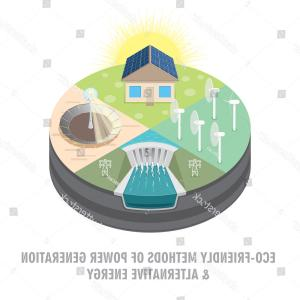 Vector Power Plant Utility: Stock Illustration Set Of Different Tidal Power