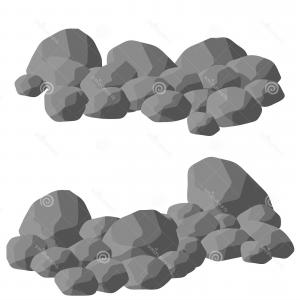 Vector Granite Rock: Element Nature Mountains Rocks Caves Minerals Boulder Cobble Natural Barrier Wall Cartoon Illustration Set Gray Granite Image