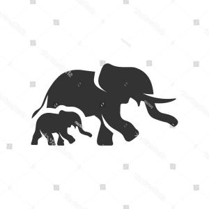 Apple Safari Icon Gray Vector: Elephants Icon Single Grey Color Mammal