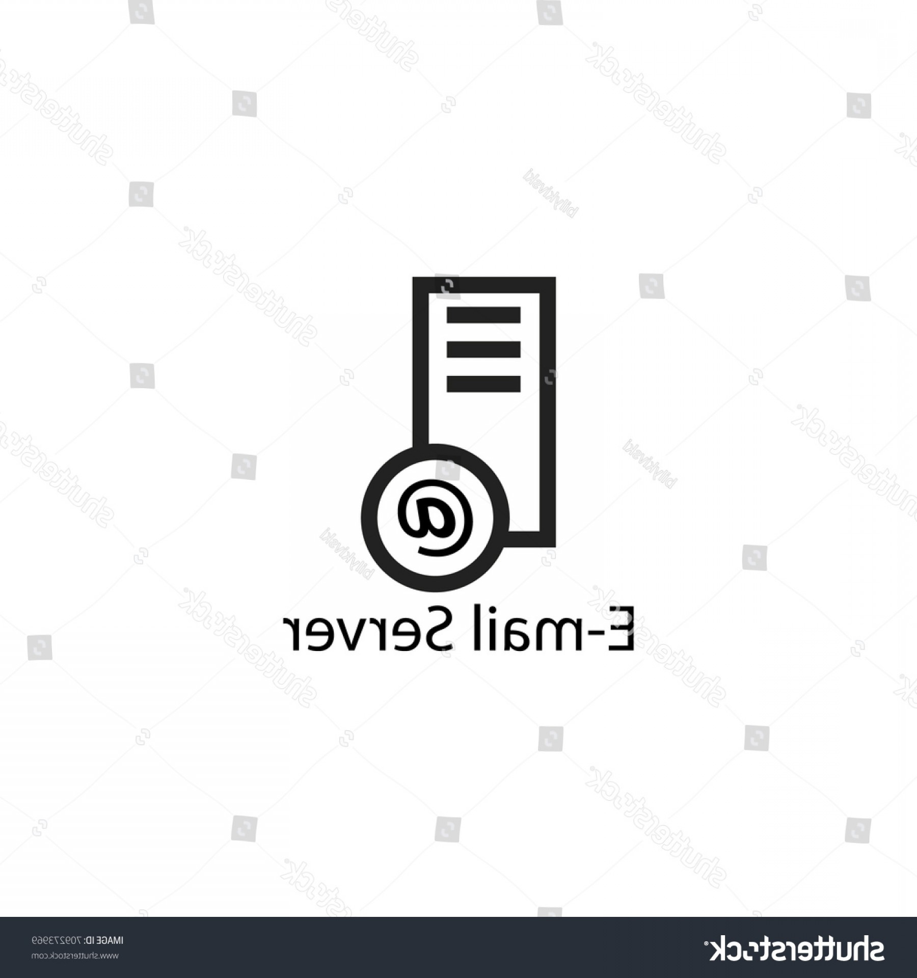 Vector Email Server: Email Server Image Vector Icon Design
