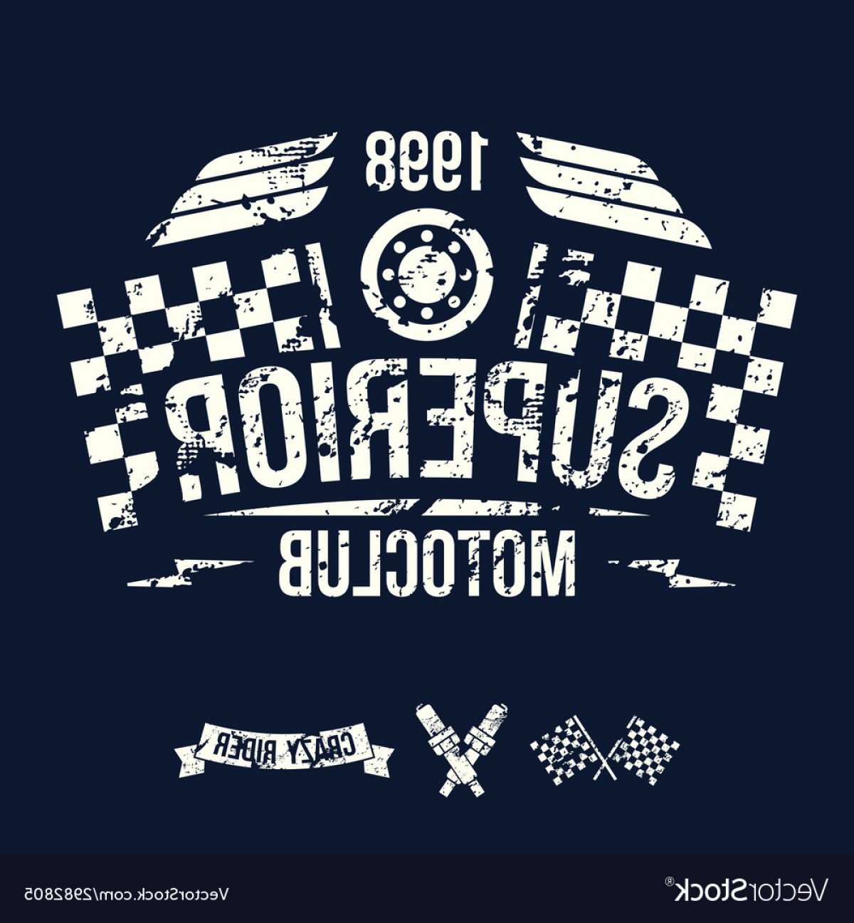 Motorcycle Club Vector: Emblem Of The Motorcycle Club In Retro Style Vector