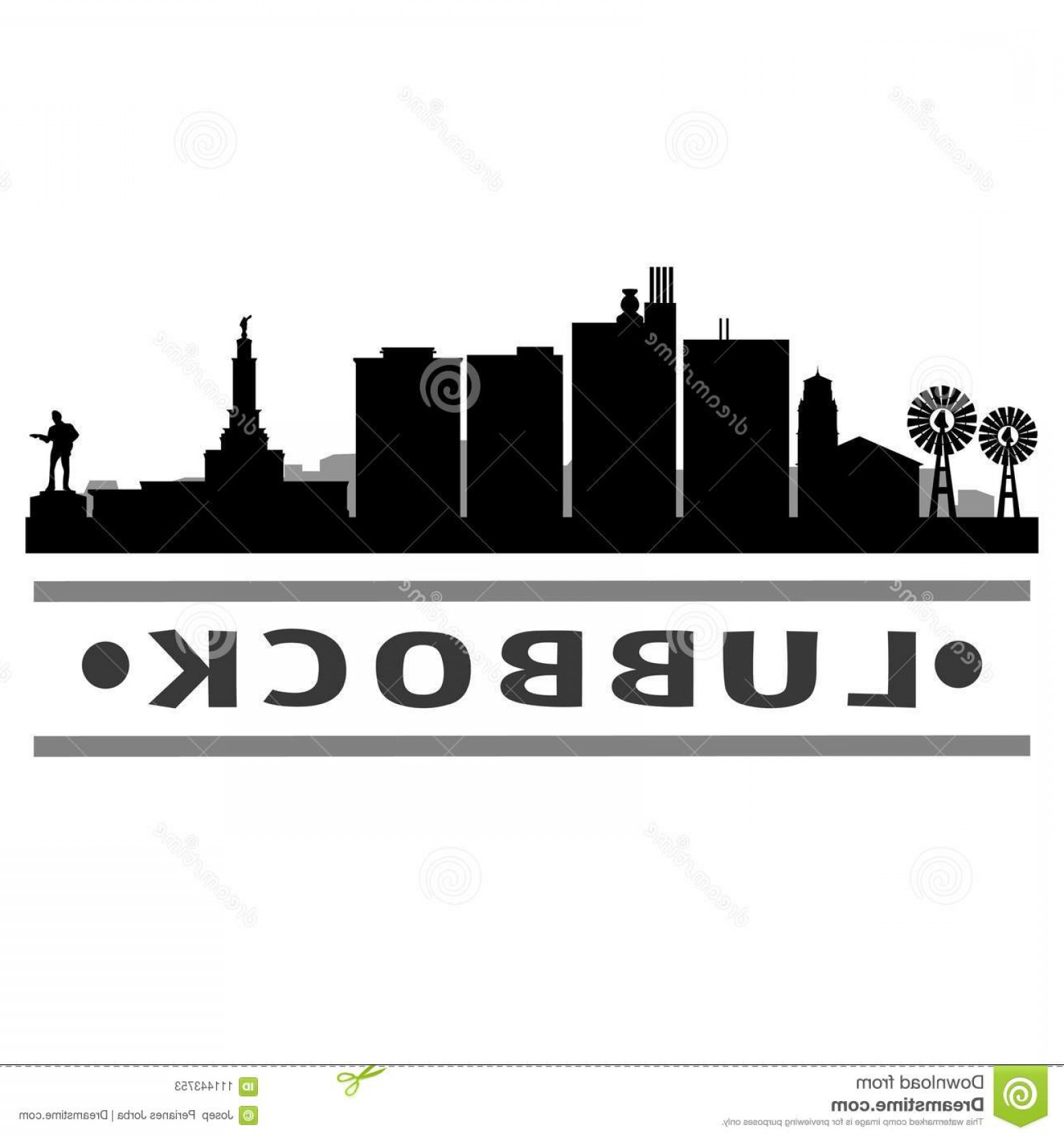 Texas Tech Logo Vector Graphic: Emblematic Elements City Template Vector Icon Building Urban Art Lubbock Texas Design Skyline Flat Silhouette Editable Image
