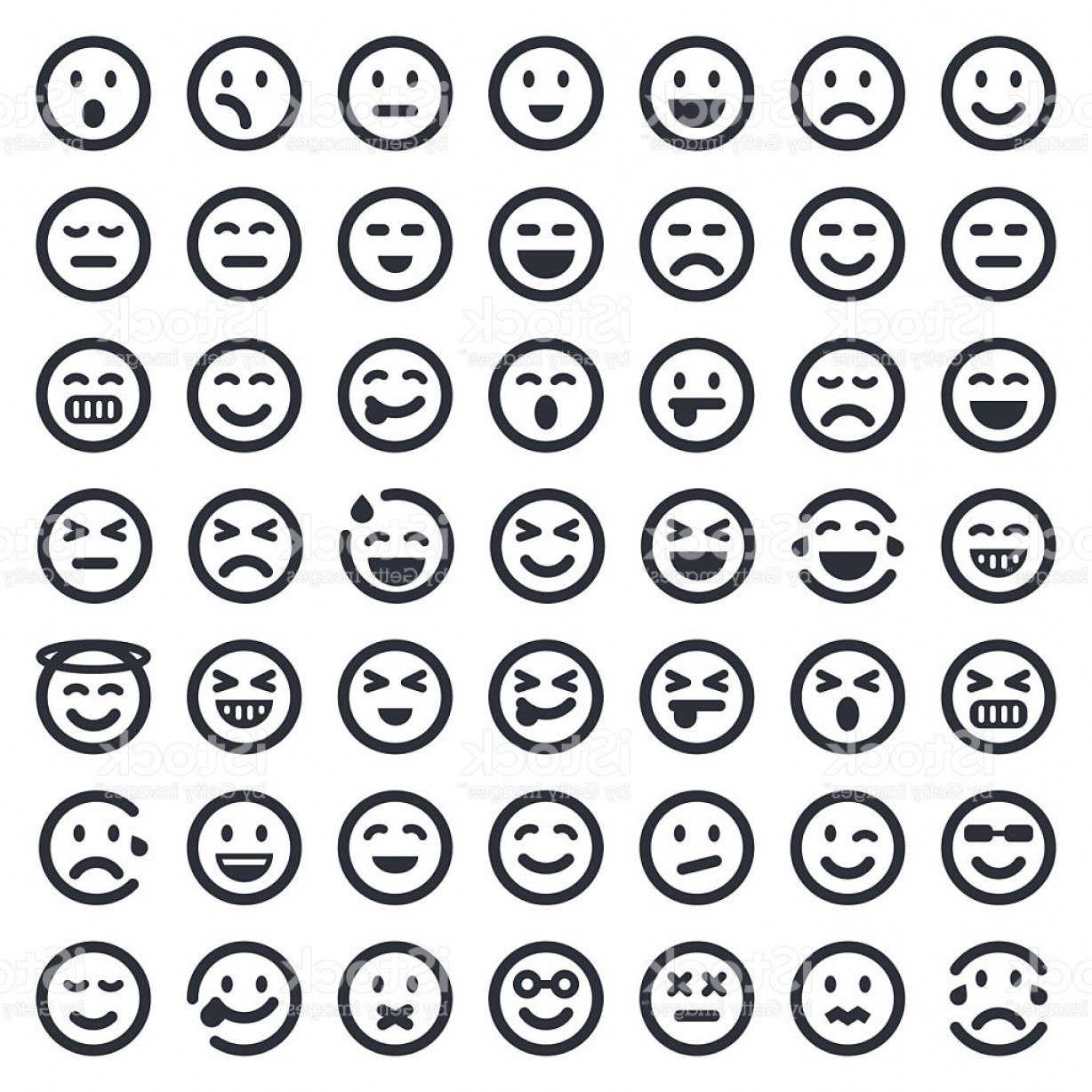 Popular Vector Emoji: Emoji Icons Set Ers Series Gm