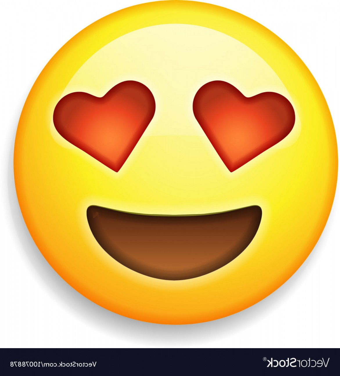 Popular Vector Emoji: Emoji With Heart Shaped Eyes Emoticon Smiling Vector
