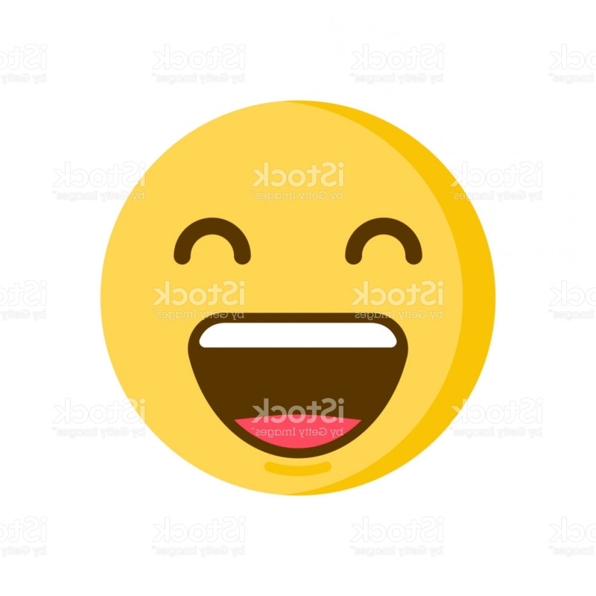 Popular Vector Emoji: Emoticon Smiley With A Huge Smile On His Face Vector Emoji Icon Gm