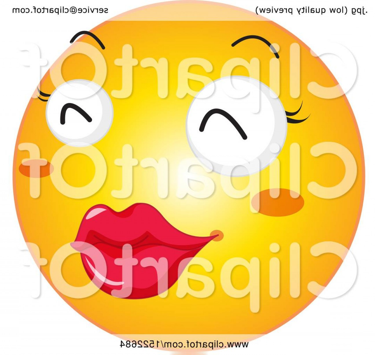Emoji Fist Bump Vector Graphic: Emoticon Yellow Emoji Smiley With Puckered Lips