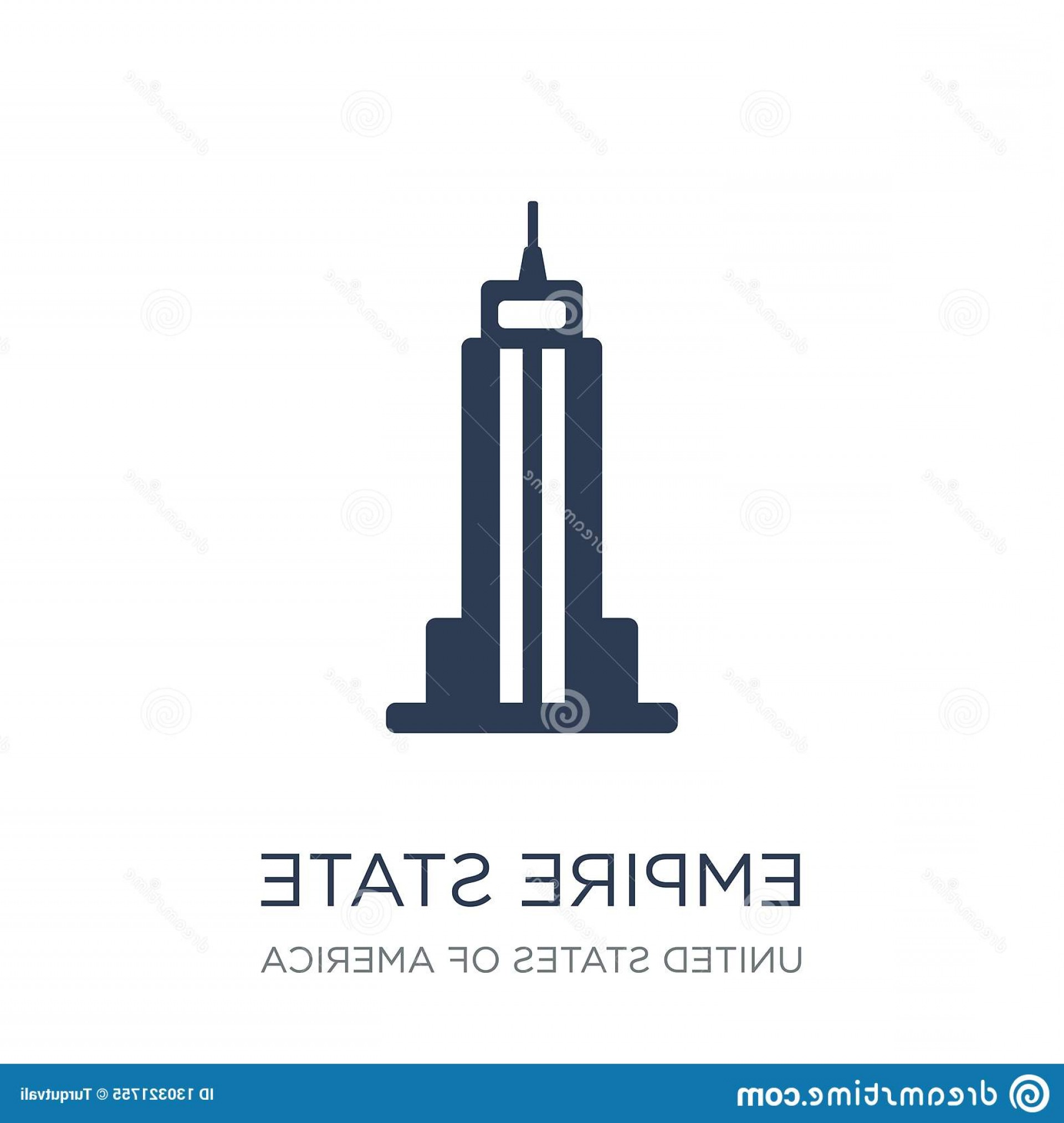 Empire State Vector: Empire State Building Icon Trendy Flat Vector Buil White Background United States America Collection Illustration Can Image