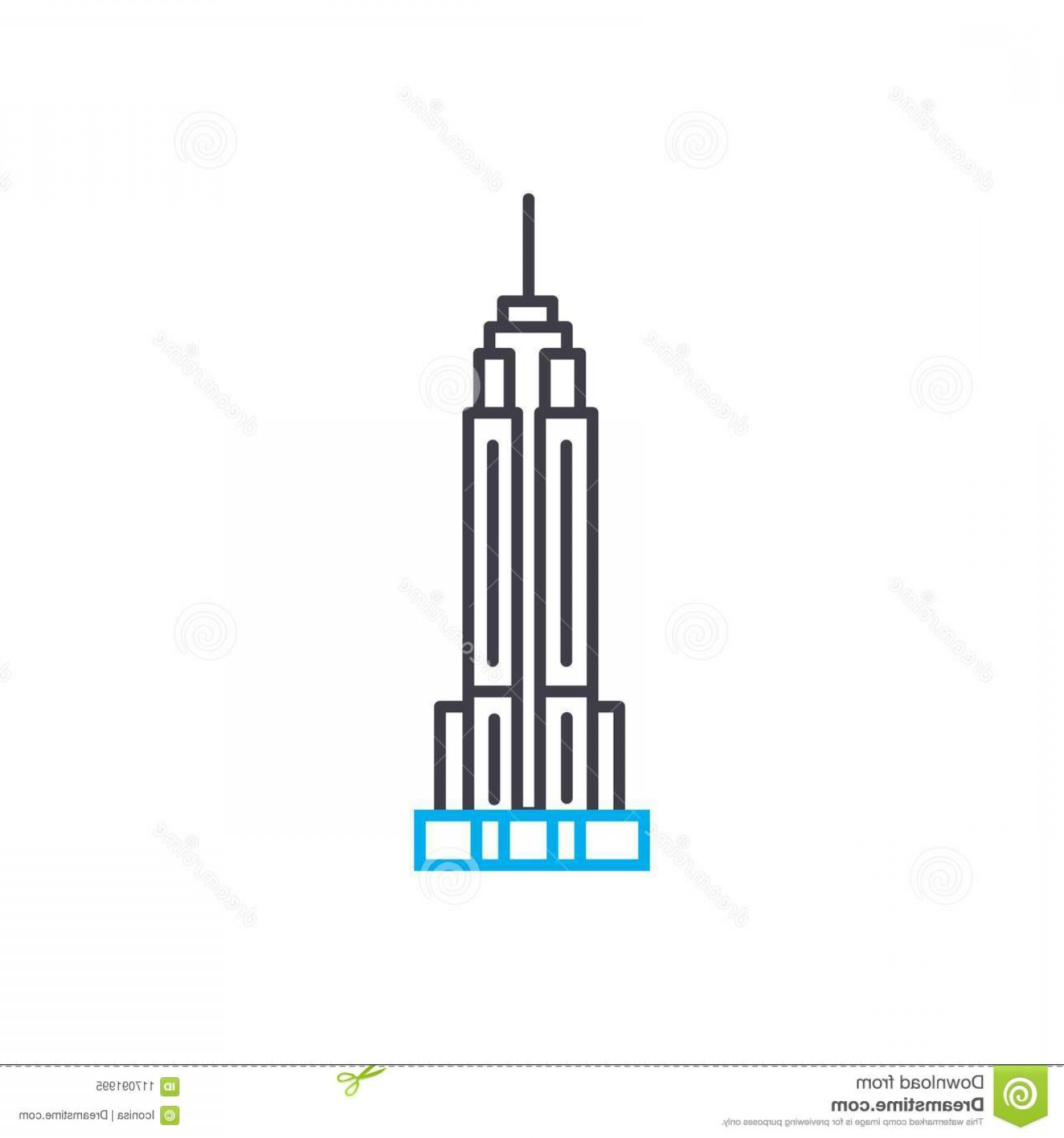 Empire State Vector: Empire State Building Line Icon Vector Illustration Empire State Building Linear Concept Sign Empire State Building Linear Icon Image
